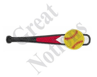Softball Bat - Machine Embroidery Design