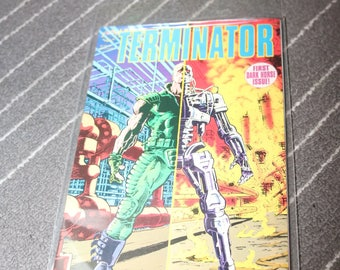 Terminator #1 1990 Dark Horse Comics Judgement Day T2 Vintage 1990s Comic Book