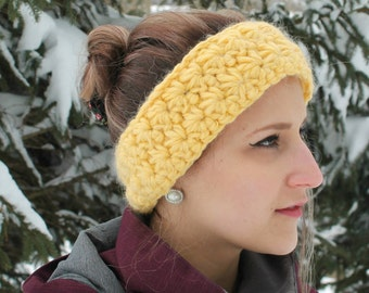 Yellow size headband adult