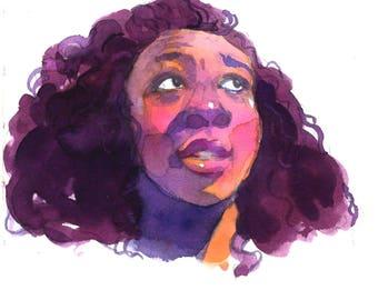 Custom Profile Picture, Avatar, Portrait Illustration, Watercolor Portrait, Digital File