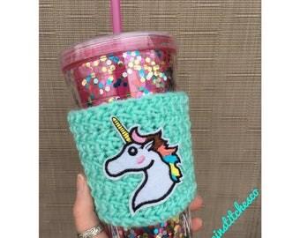 Unicorn/ Majestic/ Travel Mug Cozy/ Tumbler Cozy/ Mug Sweater