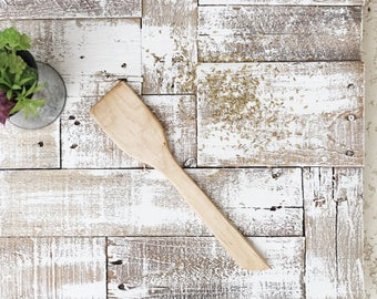 Handmade Maple Wooden Spatula | Hand Carved | Wooden Cooking Utensil | Kitchen Items | Wood Craft