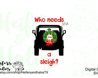 Who needs a sleigh?  Digital cut file for cricut and silhouette, svg, pdf, png, eps, dxf, studio3, great for shirts, decals, etc.