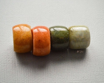 Washers beads handcrafted jade jadeite of type A, natural, undyed, untreated, 14 mm, nature, ethnic, tribal, Nomad, 4 pcs