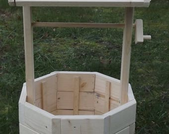 HAND MADE WISHING Well Planter, Wooden Planter