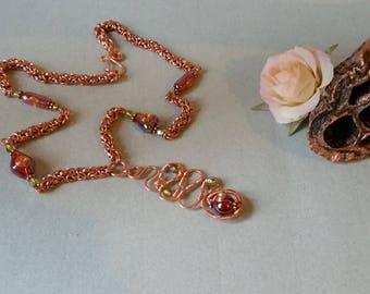 Byzantine necklace - elven jewelry/Saphire/spirals/boho