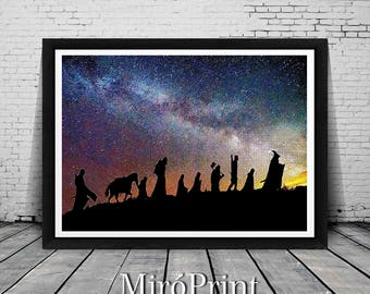 Lord of the Rings Print, Wall Art Decor, Lord Of The Rings Art, The Lord Of The Rings, Galaxy Illustration, Parody Art, Galaxy Print, Poster