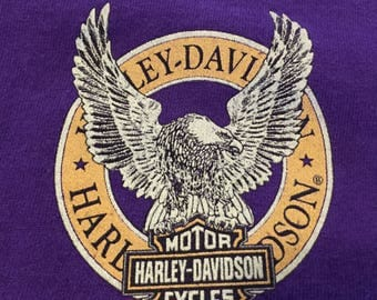 Vintage Harley Davidson Long Sleeve T-Shirt in Purple