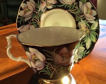 "Royal Albert Bone China "" prairie crocus"" Tea Cup and Saucer"