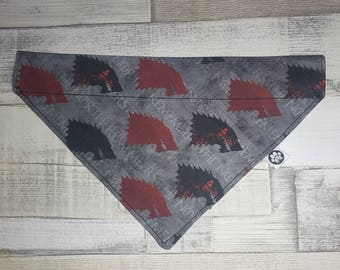 Game of thrones Bandana, dog bandana, cat bandana, game of thrones, pet accessories, pet wear, dog scarf, cat scarf, GOT dog bandana, wolf