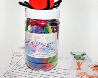 Kids Craft Kit - Craft Kits - Kids Gift - Art Craft Kit - Make A Monster Kit