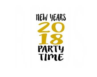 Kiss Me Now Midnight Is Past My Bedtime svg, Happy New Year SVG, New Year, New Years Eve File, Easy Cricut Cutting File, year 2018 svg file