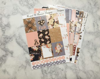 Erin Condren Weekly Sticker Kit - Fall Plaid