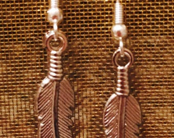 FEATHER DANGLE SILVER Earrings