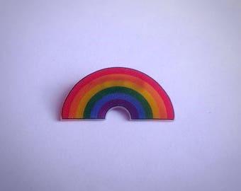 Rainbow Pride Badge - gay, lesbian, queer