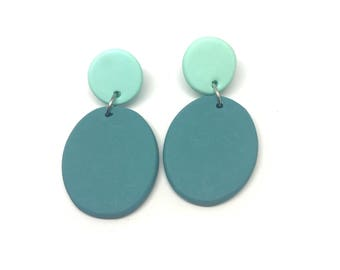 Pebble Earrings, Statement earrings, abstract earrings, polymer earrings, colour block earrings.