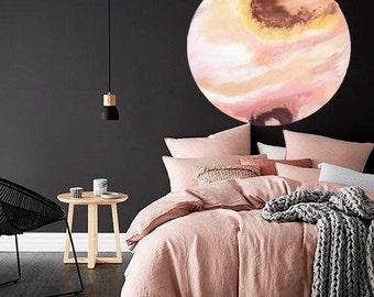 APHRODITE, pinks and copper 90cm resin artwork