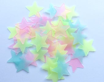 Colourful star sky, light star