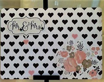 Mr.  &  Mrs. -  Wedding Card - Handcrafted Greeting Card w/verse - Wedding Card - W/Heartfelt Messages