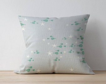 Throw Pillow, Decorative pillow, Home decor, Kids Pillow Cushion, Nautical pillow, Mid Century pillow, Playroom decor, Children Room Decor