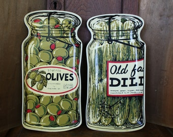 Vintage Trays with Canning Motifs