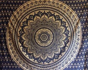 Wall Tapestry Mandala Wall Hanging Wall Decor Bohemian Wall Tapestries Blue Wall Art Boho Decor Bedroom Wall Decor Dorm Decor Yoga Gift Bed