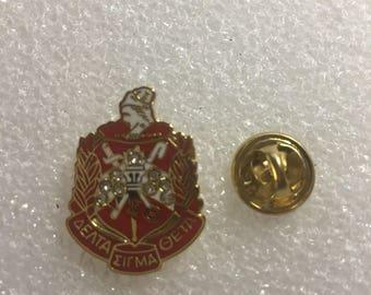 Delta Sigma Theta Sorority Lapel Pin Broach Tie Tack #1