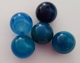Blue striped Agate beads