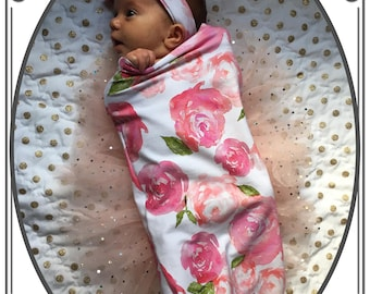 Designer - Swaddle Sacks,baby sleep sack , Sleep Sacks , floral swaddle,Cocoon swaddle, Newborn Photography, swaddle baby Girl