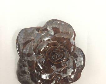 Metallic Burgundy Rose 1