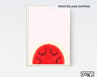 Watermelon Print, Printed and Shipped, Fruit Print, Fruit Poster Art, Fruit Print Set, Fruit Wall Art Print, Fruit Kitchen Print, Fruit Art