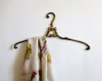 Antique brass hanger - wedding dress hanger - bridal hanger - ornate hanger - solid brass - hollywood regency - german vintage - R0206