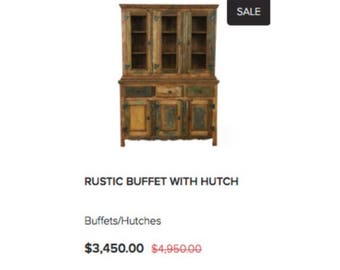 Rustic Buffet With Hutch