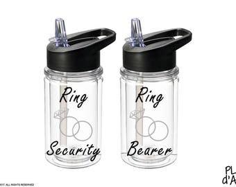Ring Bearer Gift - Ring Security Gift, Ring Bearer Bottle, Ring Security Bottle - Ring Bearer Gift Ideas (BT003B)