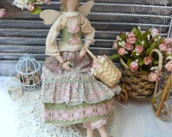 Tilda doll Fiona, tilda angel, flower Fairy doll, reg doll, tilda fairy