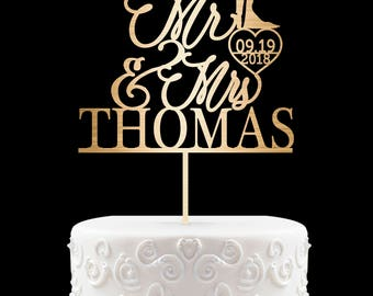 Mr and Mrs Wedding Cake Topper Customized Wedding Cake Topper Personalized Cake Topper Wedding Custom Personalized Wedding Cake Topper 16