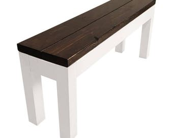 Farmhouse Bench — Rustic Modern Table Bench