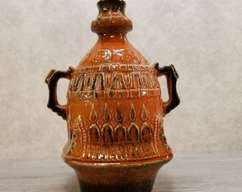 VTG 1970s U Keramik (Uebelacker) 1665/30 Vase West German Pottery Midcentury Modern Fat Lava Era