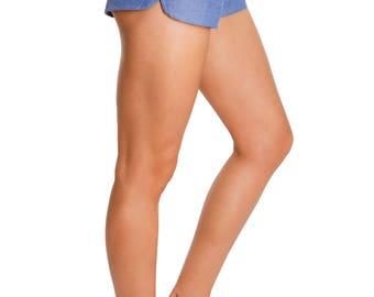 VADA - organic cotton chambray shorts