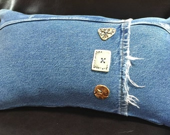 Handmade Denim Pillow