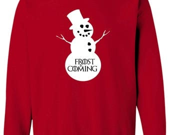 Game of Thrones Inspired Frost is Coming Ugly Christmas Sweater