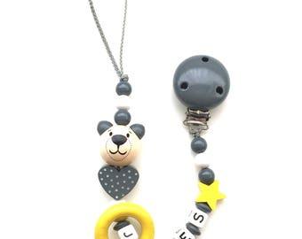 Pacifier pattern JULES wooden beads