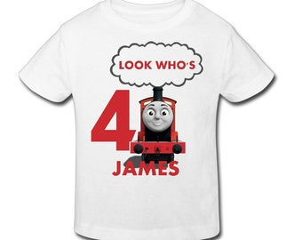 James The Train Birthday T Shirt - Personalized Birthday T- shirtBirthday// 1st, 2nd, 3rd, 4th, 5th Birthday - Fast Shipping!