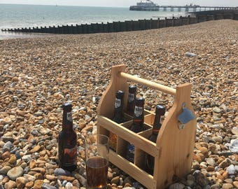 Wooden Beer Crate Carrier