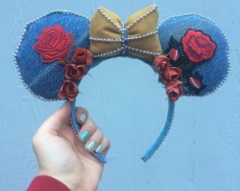 Beauty and the Beast Ears - Minnie Ears - Mickey Ears - Modern Day Beauty and the Beast Ears