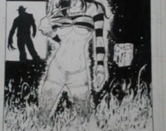 The Girls of Horror : Freddy Poster
