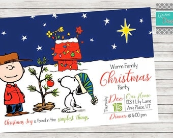 Christmas Party Invitation - Printable