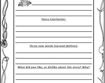 Book Report Pages