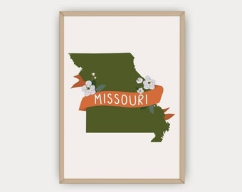 Missouri Print, Wall Art - The Mother of the West, Missouri Illustration