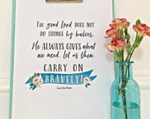 Carry On Bravely St. Zelie Martin Quote Digital Download